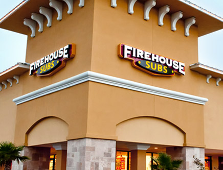 Exterior photo of a Firehouse Subs restaurant